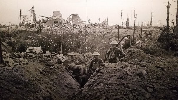 Ww1, Trench, Warfare, One, War, World