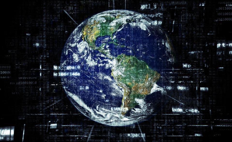 地球, インターネット, グローバリゼーション, 技術, ネットワーク, 世界, グローバル, デジタル