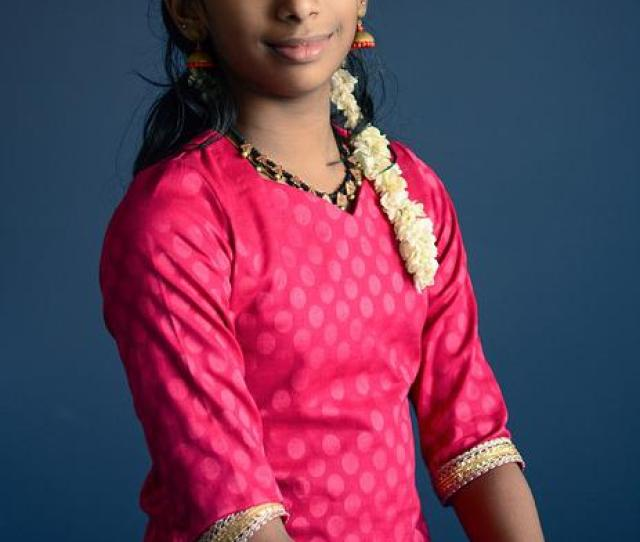 Beautiful Young Indian Girl Portrait Female