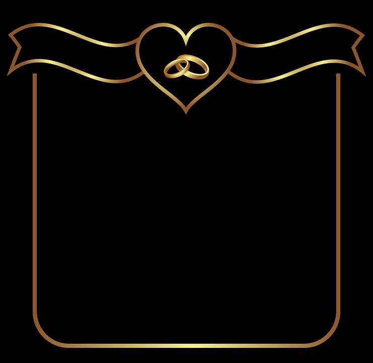 banniere coeur mariage fond image