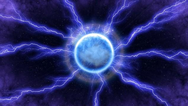 Молния, Энергия, Синий, Свет, Пространство, Темно, Луна