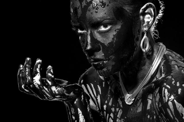 Blanco Y Negro, Retrato, Mujer, Joyas, Mirar, Colores Negro
