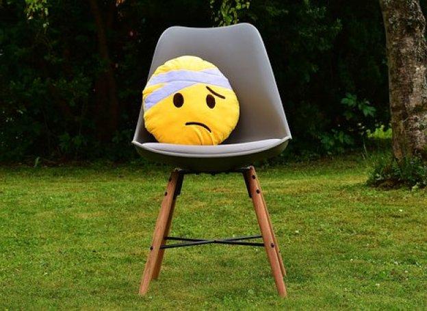 すぐ良く, スマイリー, かわいい, ぬいぐるみ, 黄色, 悲しい, 負傷者