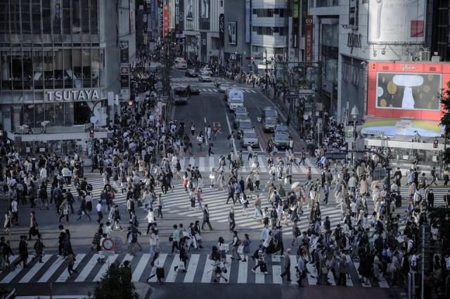 Shibuya, Intersection, Skyline, Outdoors, Building