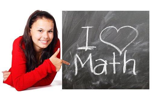 École, Les Mathématiques, Étude, Fille