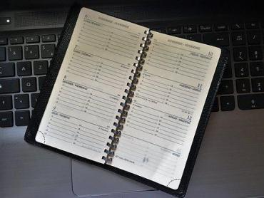 Tagebuch, Tastatur, Leder, Zeitplan