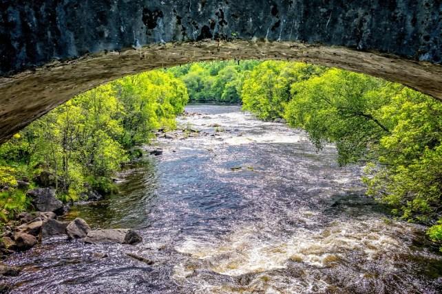 River, Bridge, Scotland, Landscape, Fluent, Racing