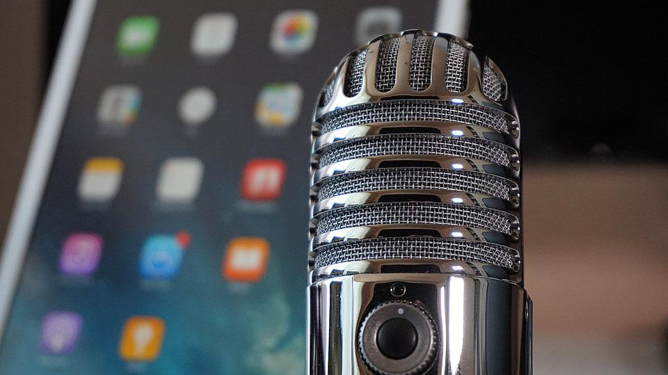 Microfone, Tablet, Podcast, Microfone Condensador