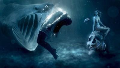 海, マーメイド, 神秘的な, ファンタジー, 食品, 食べる, リスク, 劇的です, 気味の悪い, 女性