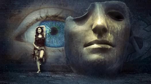 Fantasia, Surreale, Maschera, Muro, Occhio, Misticismo