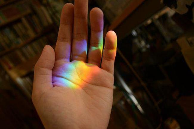 虹, 手, きれい, 肌色, 手のひら, 集める, 趣味, 女性, ひらめき