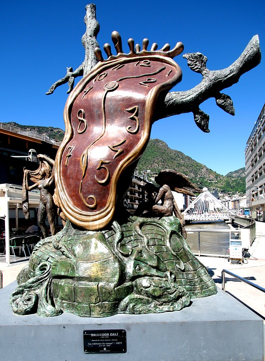 Salvador Dali Horloge Sculpture Photo Gratuite Sur Pixabay