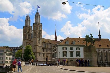 Zurich, Suiza, Grossmünster, De La Ciudad Vieja