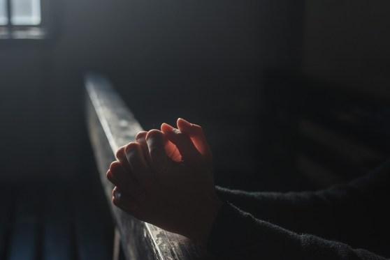 祈り, 手, 教会, 光