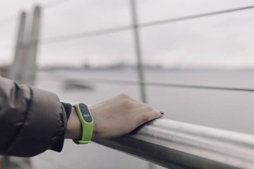 person wearing a fitness band