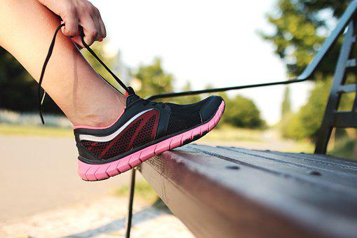 Running, Shoes, Footwear, Lace, Bench