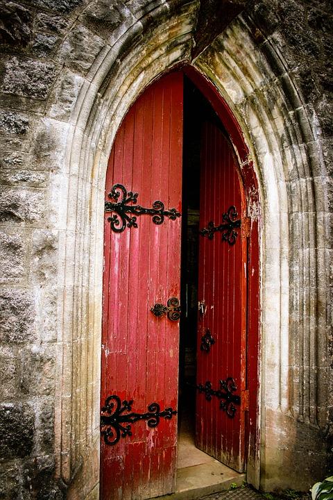 Free Photo Church Door Red Door Doorway Free Image