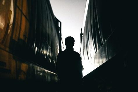 Oscuro, Personas, Hombre, Guy, Millenials, De Viaje