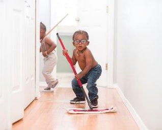 Niño, Trapeado, Pantalones Vaqueros