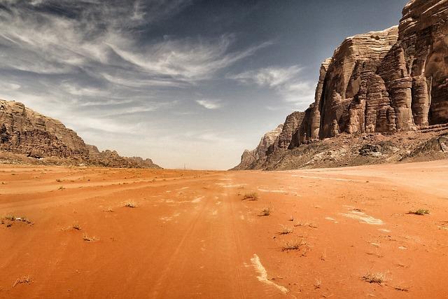 Free Photo Desert Mountain Highland Clouds Free
