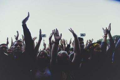 People, Men Women, Crowd, Hands, Praise