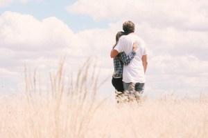 Ciel, Herbe, En Plein Air, Personnes, Couple, L