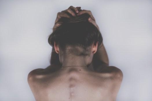 Donna, Triste, Depressione, Mal Di Testa, Dolori
