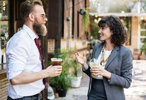 수염, 마실 것, 휴식, 사업, 카페, 커피, 통신, 기업, 컵, 음료