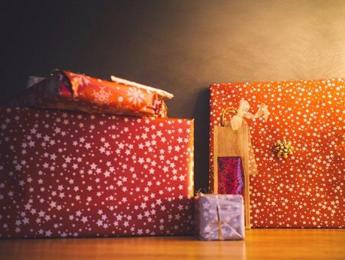 クリスマス, プレゼント, ギフト, ラッピング, お祝いの