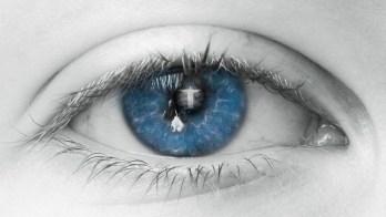 目, 青, 人間, ビュー, まつげ, ふた, ミラー, 魂, 信頼, 神, イエス, セキュリティ, 愛