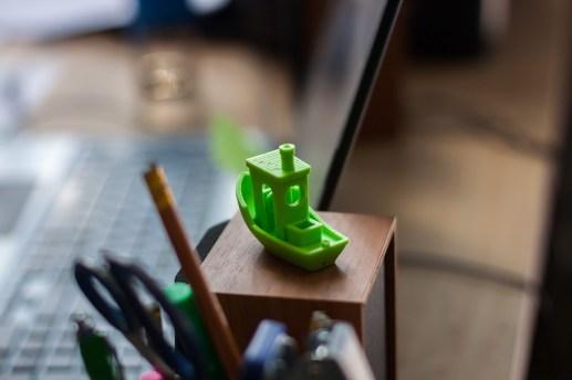 Korablik, Ship, 3D Printing, Green, Bokeh, Boat