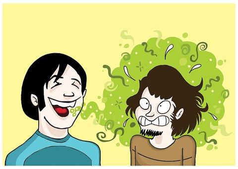 無料画像, 口臭, 病気, 健康, うそをつく, 友情, 漫画