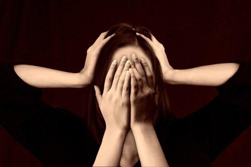Donna, Faccia, Bullismo, Stress, Vergogna, Vergognatevi