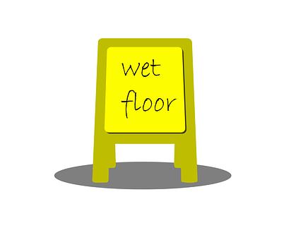 Wet, Floor, Sign, Clean, Yellow, Caution