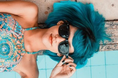 Blue, Sunglasses, Woman, Swimming Pool, Dream, Beach, Visualization, Positive Thinking, Relax