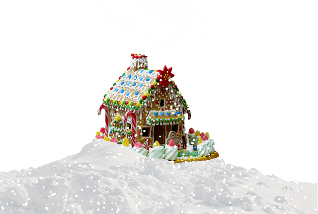 Christmas Gingerbread House Snow Free Photo On Pixabay