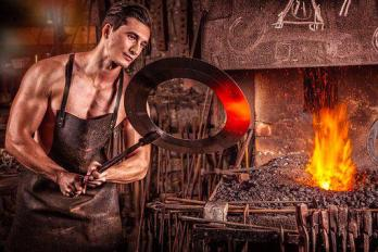 Blacksmith, Fire, Iron, Coal, Glow, Oven