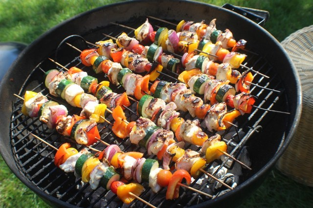 Skewers, Meat, Beef, Grill, Meal, Cooking, Grilled