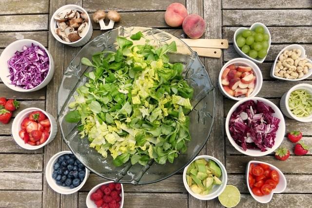 Salat, Frugter, Bær, Sund, Vitaminer, Frisk, Mad