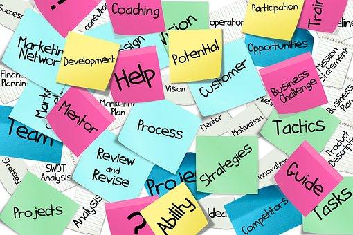 Stickies, Post-It, Liste, Affaires