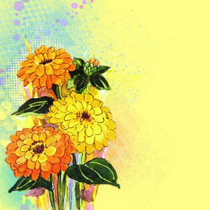 Free Illustration Background Flowers Yellow Bright