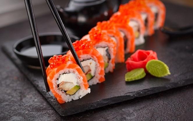 Sushi, Japonês, Placa, Poder, Peixe, Ásia, Japão