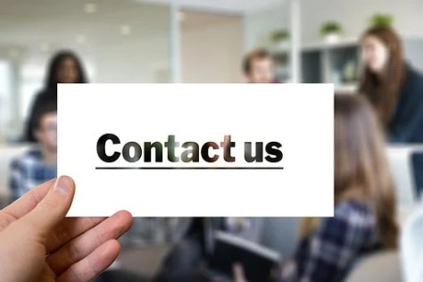 Contact, Visit, Letters, Email, Mail