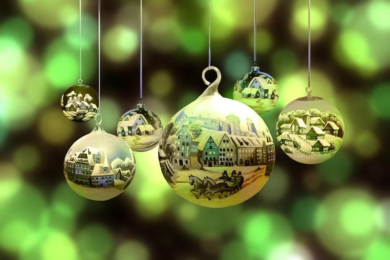 Noël, Hiver, La Neige, Village, Paysage