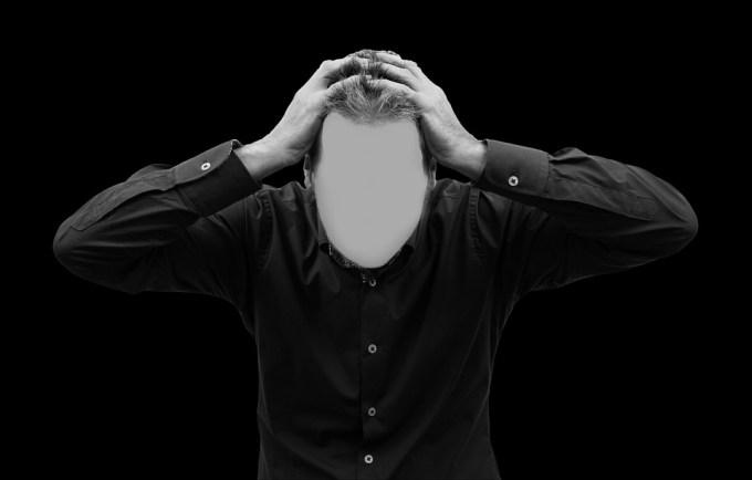 男, 顔, 精神病, 頭, 手, 頭痛, バーンアウト, 疑問符, バイポーラ, エラー, 躁鬱病の