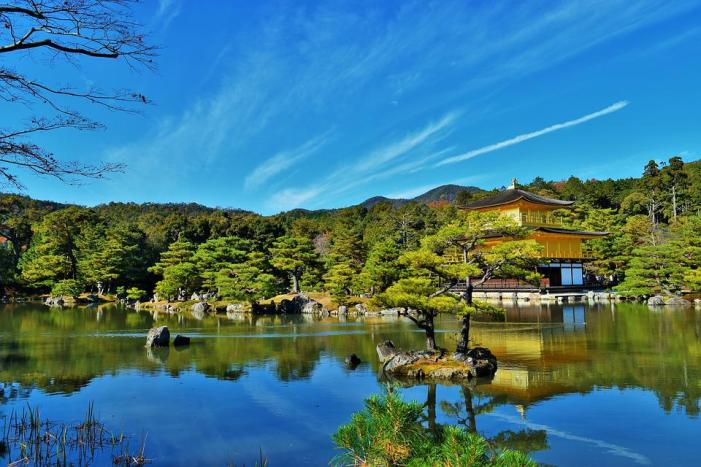 Kyoto, Temple D'Or, Kinkaku-Ji, Japon