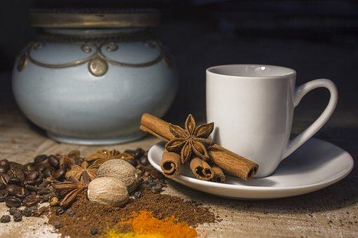 Coffee Pot, Cup, Seasoning, Cinnamon