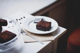 Food, Drinks, Brownie, Cafe, Chocolate, Dark, Dessert