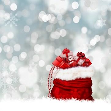 Natale, Regali, Geschenksack, Borsa, Rosso, Sorpresa