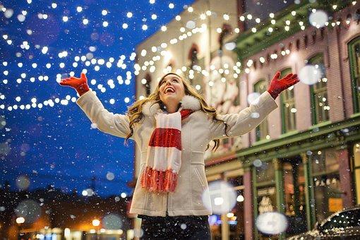 Giáng Sinh, Hạnh Phúc, Người Phụ Nữ, Đèn